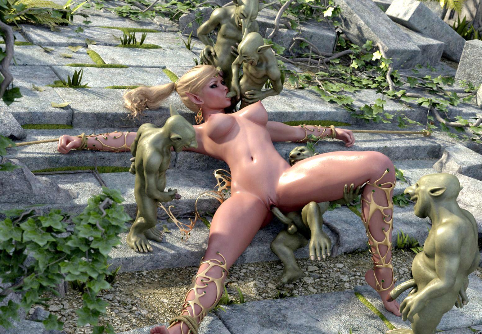 Смотреть аниме порно с гоблинами онлайн 16 фотография
