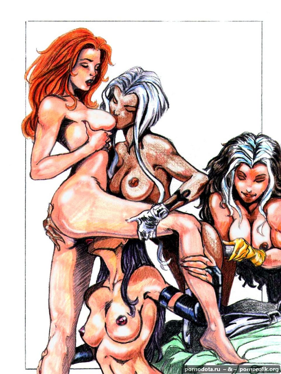 Sexy naked marvel women smut toons